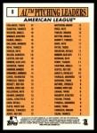 2012 Topps Heritage #8   -  Justin Verlander / CC Sabathia / Jered Weaver / Gio Gonzalez / Dan Haren Leaders Back Thumbnail