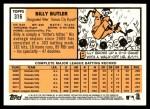 2012 Topps Heritage #316  Billy Butler  Back Thumbnail