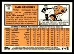 2012 Topps Heritage #89  Liam Hendriks  Back Thumbnail