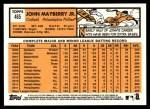 2012 Topps Heritage #465  John Mayberry Jr.  Back Thumbnail
