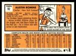 2012 Topps Heritage #92  Austin Romine  Back Thumbnail