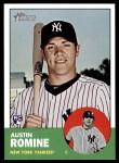 2012 Topps Heritage #92  Austin Romine  Front Thumbnail