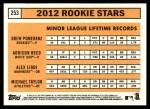2012 Topps Heritage #253   -  Drew Pomeranz / Addison Reed / Alex Liddi / Michael Taylor Rookies Back Thumbnail