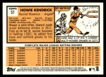 2012 Topps Heritage #57  Howie Kendrick  Back Thumbnail