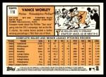 2012 Topps Heritage #116  Vance Worley  Back Thumbnail