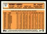 2012 Topps Heritage #335  Bobby Abreu  Back Thumbnail