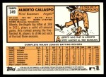 2012 Topps Heritage #249  Alberto Callaspo  Back Thumbnail