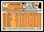 2012 Topps Heritage #255  John Axford  Back Thumbnail