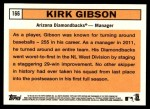 2012 Topps Heritage #166  Kirk Gibson  Back Thumbnail