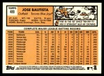 2012 Topps Heritage #489  Jose Bautista  Back Thumbnail