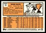 2012 Topps Heritage #109  Wade Davis  Back Thumbnail