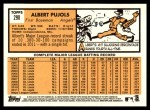 2012 Topps Heritage #290  Albert Pujols  Back Thumbnail