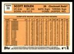 2012 Topps Heritage #203  Scott Rolen  Back Thumbnail