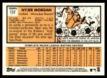 2012 Topps Heritage #137  Nyjer Morgan  Back Thumbnail