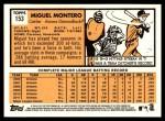 2012 Topps Heritage #153  Miguel Montero  Back Thumbnail