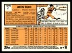 2012 Topps Heritage #41  John Buck  Back Thumbnail