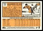2012 Topps Heritage #234  Alejandro De Aza  Back Thumbnail