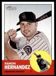 2012 Topps Heritage #326  Ramon Hernandez  Front Thumbnail