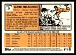 2012 Topps Heritage #24  Mark Melancon  Back Thumbnail