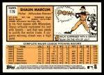 2012 Topps Heritage #179  Shaun Marcum  Back Thumbnail