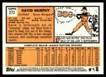 2012 Topps Heritage #272  David Murphy  Back Thumbnail