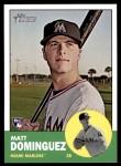 2012 Topps Heritage #424  Matt Dominguez  Front Thumbnail