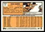 2012 Topps Heritage #231  Dan Haren  Back Thumbnail