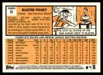 2012 Topps Heritage #85  Buster Posey  Back Thumbnail