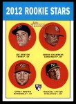 2012 Topps Heritage #95   -  Joe Benson / Adron Chambers / Corey Brown / Michael Taylor Rookies Front Thumbnail