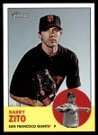 2012 Topps Heritage #474  Barry Zito  Front Thumbnail