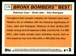 2012 Topps Heritage #173   -  Robinson Cano / Derek Jeter / Alex Rodriguez Bronx Bombers Best Back Thumbnail
