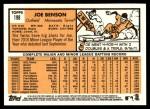 2012 Topps Heritage #198  Joe Benson  Back Thumbnail