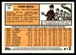 2012 Topps Heritage #237  Ivan Nova  Back Thumbnail