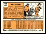 2012 Topps Heritage #485  Mike Napoli  Back Thumbnail