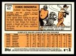 2012 Topps Heritage #437  Chris Denorfia  Back Thumbnail