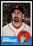 2012 Topps Heritage #285  Adrian Gonzalez  Front Thumbnail