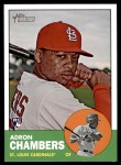 2012 Topps Heritage #458  Adron Chambers  Front Thumbnail