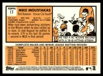 2012 Topps Heritage #17  Mike Moustakas  Back Thumbnail