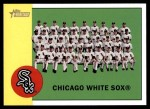 2012 Topps Heritage #288   White Sox Team Front Thumbnail