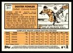 2012 Topps Heritage #217  Dexter Fowler  Back Thumbnail