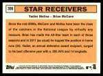 2012 Topps Heritage #306   -  Yadier Molina / Brian McCann Star Receivers Back Thumbnail