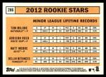 2012 Topps Heritage #286   -  Tom Milone / Addison Reed / Matt Moore / Dellin Betances Rookies Back Thumbnail