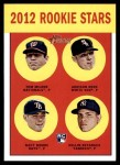 2012 Topps Heritage #286   -  Tom Milone / Addison Reed / Matt Moore / Dellin Betances Rookies Front Thumbnail