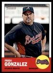 2012 Topps Heritage #73  Fredi Gonzalez  Front Thumbnail