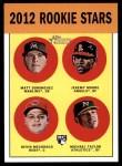 2012 Topps Heritage #407   -  Matt Dominguez / Jeremy Moore / Devin Mesoraco / Michael Taylor Rookies Front Thumbnail