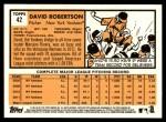 2012 Topps Heritage #42  David Robertson  Back Thumbnail