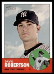 2012 Topps Heritage #42  David Robertson  Front Thumbnail