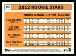 2012 Topps Heritage #191   -  Liam Hendriks / Alex Liddi / Matt Moore / Chris Schwinden Rookies Back Thumbnail