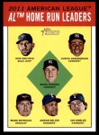 2012 Topps Heritage #4   -  Jose Bautista / Curtis Granderson / Mark Teixeira / Mark Reynolds / Adrian Beltre / Ian Kinsler Leaders Front Thumbnail