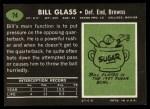 1969 Topps #74  Bill Glass  Back Thumbnail